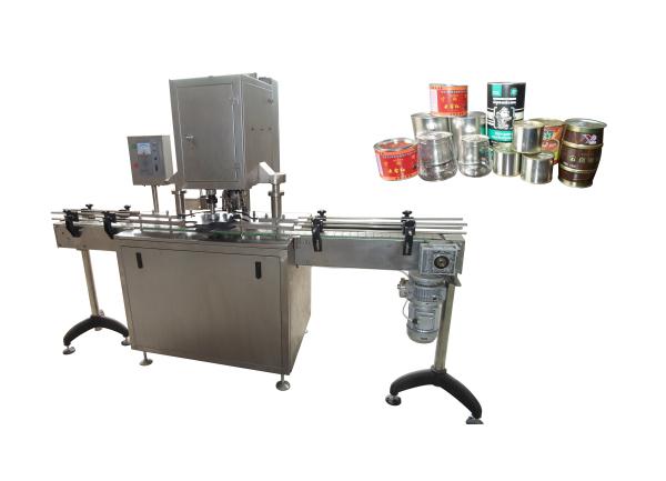 包装生产线适用于坚果、蜜饯、瓜子等颗粒类物料的自动装罐封盖贴标。该生产线从理瓶、自动计量填充、封易拉盖,压塑料盖,贴标输出成品均为全自动,大大节省人力,提高生产效率。根据用户需求,另可配打码机构等。 这套生产线由以下部分组成: 1、理瓶机 2、组合秤 3、旋转定位加料 4、封盖机 5、自动理盖机 6、压盖机 7、圆瓶贴标机 8、工作平台 9、转斗提升机